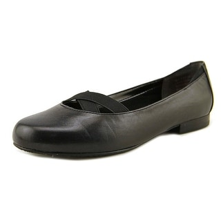 Ros Hommerson Opal Women Round Toe Leather Black Flats
