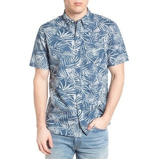 Levi's Mens Sunset Print Woven Button Down Shirt Small Blue