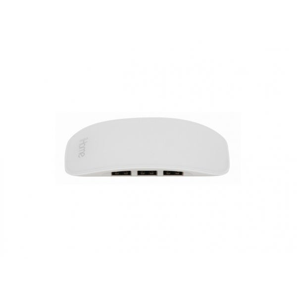 iHome IMAC-U100W 4-Port USB 2.0 Hub, White