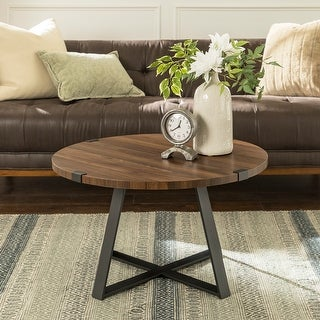 Link to Carbon Loft Barnett Round Metal Wrap Coffee Table Similar Items in Living Room Furniture