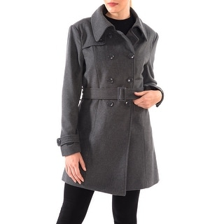 Link to Alpine Swiss Keira Womens Wool Double Breasted Belted Trench Coat Similar Items in Women's Outerwear