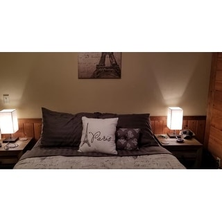 510 Design Mariam Gray/ Charcoal 5-Piece Reversibel Paris Printed Comforter Set