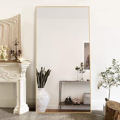 Full Length/Floor Mirror Wall Leaning Modern Metal Frame