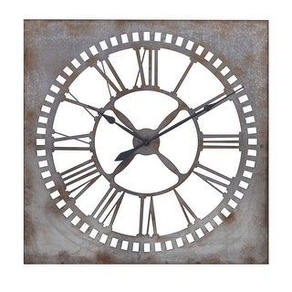 "IMAX Home 88916  39-1/4"" x 39-1/4"" Murphy Analog Wall Clock - Gray"