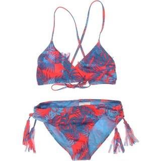 Roxy Girl Womens Printed Girls Swim Top Separates - 10