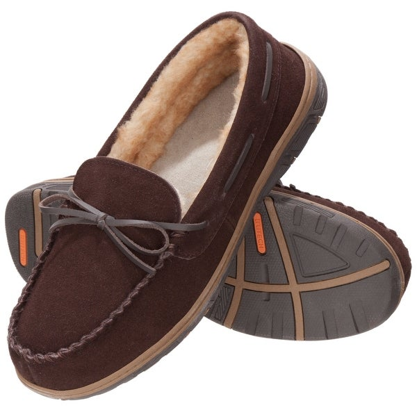 Rockport TruTech NEW Brown Men's Size 10M Suede Moccasin Slippers