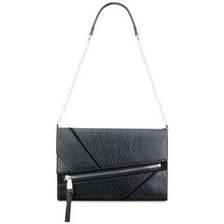 Nine West Womens Underwraps Clutch Handbag Faux Leather Textured - Medium