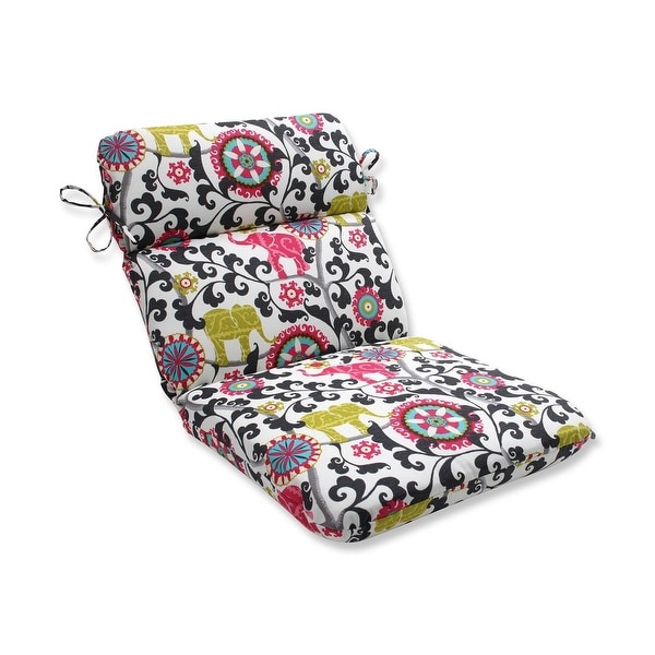 40 5 Pink And Black Elephant Dreams Outdoor Patio Chair Cushion