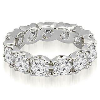 14k white gold round diamond eternity ring - Wedding Rings For Women Gold