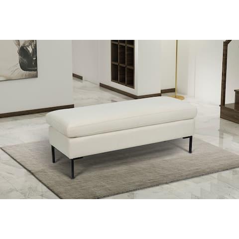 Saddle Upholstered Modern Bench