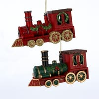 """Club Pack of 24 4.7""""Train Embellished Christmas Ornament - multi"""
