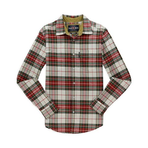 Ecko Unltd. Mens Huntington Plaid Button Up Shirt