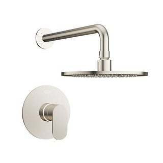 Jacuzzi MX898 Razzo Shower Trim Package with Rain Shower Head with Rough-In Valve Included