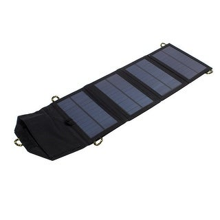 7W One Ports USB Foldable Portable Multi Functions Solar Panel Charger Black