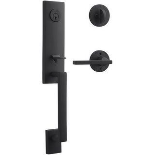 Baldwin SC.SEAXSQU.R.CRR  Seattle Right Handed Standard C Keyway Single Cylinder Keyed Entry Handleset with Contemporary Round