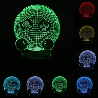 3D Illusion Bulbing Emoji Lamp Acrylic LED Night Light Micro USB Table Desk Lamp