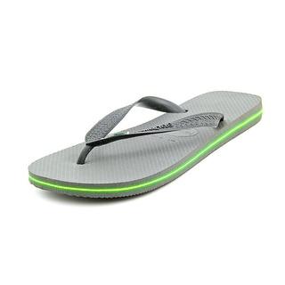 Havaianas Brasil Men  Open Toe Synthetic Gray Flip Flop Sandal