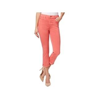 Buffalo David Bitton Womens Ivy Cropped Jeans High Rise Cuffed