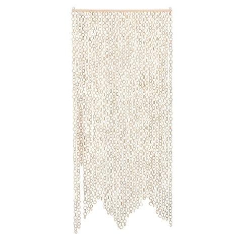 Beige Chain Link Bamboo Curtain