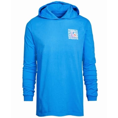 Quiksilver Mens Hoodie Sweatshirt Blue Size Large L Pullover Sweater