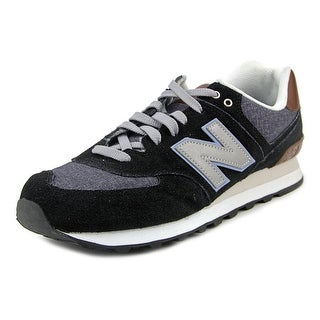 New Balance ML574 Men  Round Toe Synthetic Black Sneakers