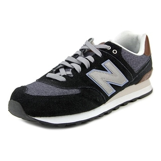 New Balance ml-574bcb Men Round Toe Synthetic Black Tennis Shoe