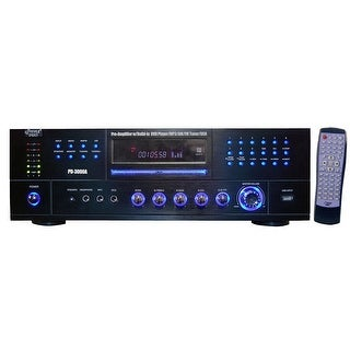 Pyle Audio KV9624B Pyle Home PD3000A 3000-Watt AM-FM Receiver with Built-In DVD/MP3/USB