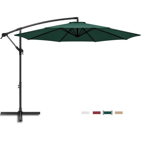 Caynel 10ft Offset Hanging Patio Outdoor Umbrella