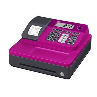Casio Cash Register for Small/Medium Sized Retail Businesses (Pink)