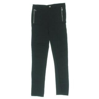 Dream Star Girls Casual Pants Ponte Zipper Pockets