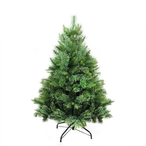 """4.5' x 37"""" Cashmere Mixed Pine Full Artificial Christmas Tree - Unlit - green"""