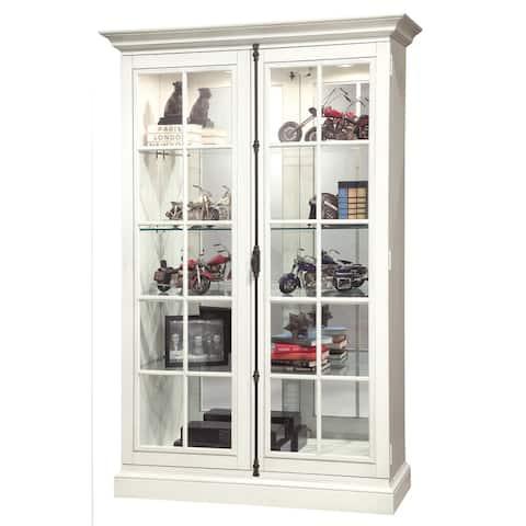 Howard Miller Clawson IV White Wood 5-shelf Curio Cabinet