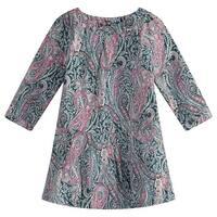 Richie House Girls' Stylish Long Sleeve Print Dress