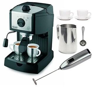 DeLonghi EC155 15 BAR Pump Espresso and Cappuccino Maker with Coffee Measure and Bundle