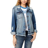 STS Blue Womens Denim Jacket Spring Ripped