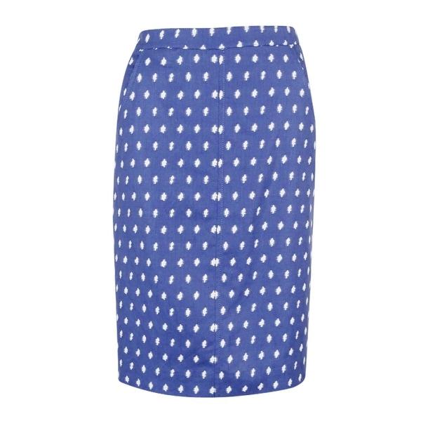 Anne Klein Women's Jacquard Skirt (6, Atlantic Blue/Optic White) - Atlantic Blue/Optic White - 6