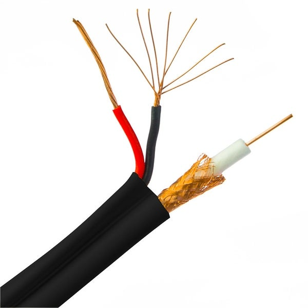 Shop Offex Bulk Rg59 Siamese Coaxialpower Cable Black Solid Core