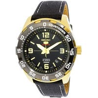 Seiko Men's  Gold Leather Automatic Sport Watch