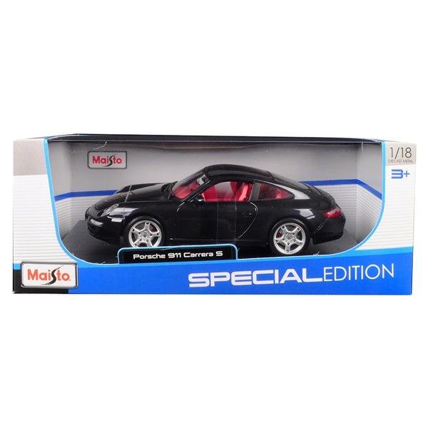 Porsche 911 Carrera S Metallic Bluish Gray with Red Interior 1/18 Diecast Model Car by Maisto
