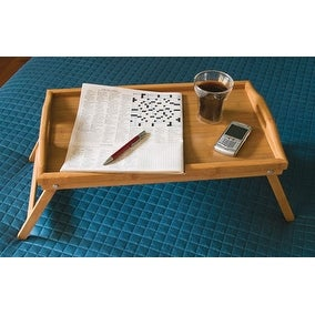 Lipper 8863 Bamboo Bed Tray with Folding Legs