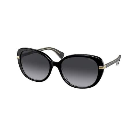 Ralph RA5277 59418G 56 Shiny Black On Crystal Woman Butterfly Sunglasses