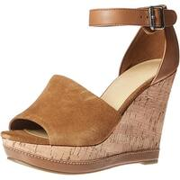 Marc Fisher Womens Hillory Leather Open Toe Casual Platform Sandals