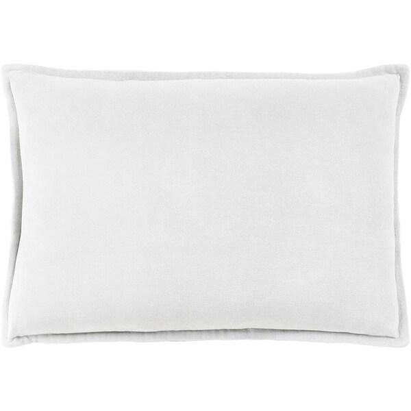 "13"" x 20"" Solid Light Haze Gray Contemporary Woven Decorative Throw Pillow"
