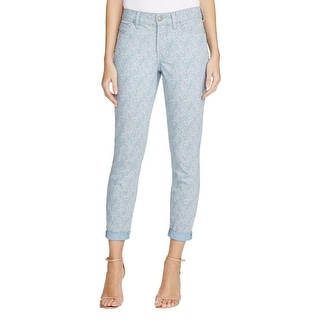 NYDJ Womens Ankle Jeans Paisley Rolled Cuff