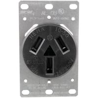 5206 Single-Flush Range Receptacle (3 Wire)