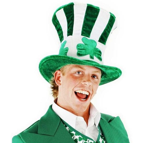 Irish Shamrock Uncle Sam Leprechaun Adult Hat Costume Accessory One Size - Green
