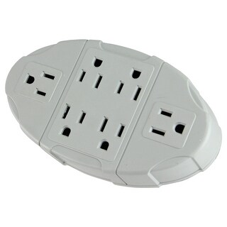 Westinghouse 6-Outlet Electric Transformer Tap Grounded Wall Adapter - White