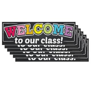 (6 Ea) Magnetic Welcome Banner Neon Chalk