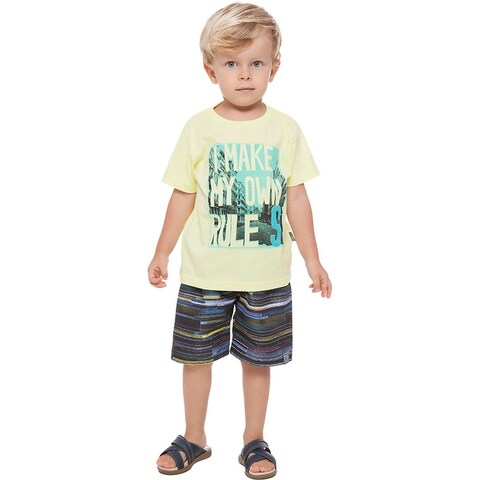 Toddler Boy Outfit Graphic T-Shirt and Shorts 2-piece Set Pulla Bulla 1-3 Years