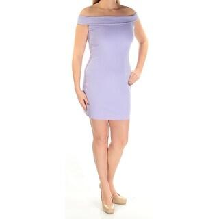 IN AWE $90 Womens 1225 Purple Scoop Neck Sleeveless Body Con Party Dress L B+B